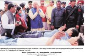 Sector 15 market converts into a makeshift Mini Super Specialty Hospital
